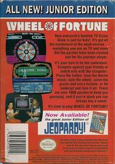 Wheel Of Fortune Junior Edition - Back | Wheel of Fortune Junior Edition NES