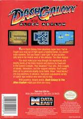 Dash Galaxy In The Alien Asylum - Back | Dash Galaxy in the Alien Asylum NES