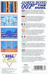 Back Cover  | 007 James Bond the Duel PAL Sega Master System