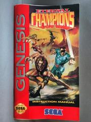Instruction Manual | Eternal Champions Sega Genesis
