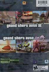 Back Of Box | Grand Theft Auto Double Pack Xbox