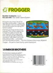 Frogger - Back   Frogger Atari 5200