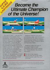 Ballblazer - Back   Ballblazer Atari 5200
