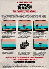 Back Of Box | Star Wars The Empire Strikes Back Atari 2600