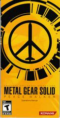 Manual - Front | Metal Gear Solid: Peace Walker PSP