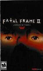 Manual - Front | Fatal Frame 2 Playstation 2