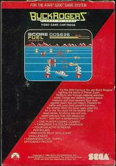 Buck Rogers Planet Of Zoom  - Back | Buck Rogers: Planet of Zoom Atari 5200