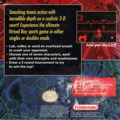 Mario'S Tennis - Back | Mario's Tennis Virtual Boy