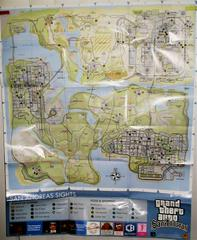 "2 Sided Map/Poster 21 1/4"" X 26"" 