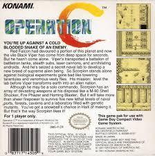Operation C - Back | Operation C GameBoy