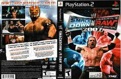Artwork - Back, Front | WWE Smackdown vs. Raw 2007 Playstation 2