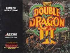 Double Dragon III - Instructions | Double Dragon III NES