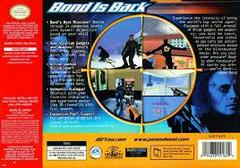 007 World Is Not Enough - Back | 007 World Is Not Enough Nintendo 64