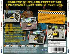 Back Of Case | Crazy Taxi Sega Dreamcast