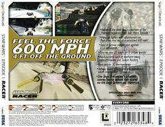Back Of Case | Star Wars Episode I Racer Sega Dreamcast