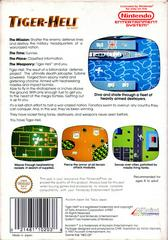 Back Cover | Tiger-Heli NES