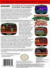 TMNT Tournament Fighters - Back | Teenage Mutant Ninja Turtles Tournament Fighters NES
