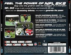 Back Of Case | NFL 2K2 Sega Dreamcast