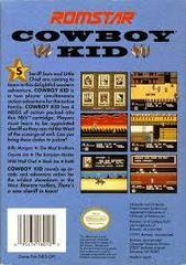 Cowboy Kid - Back | Cowboy Kid NES