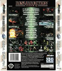 Back Of Box | Rise 2 Resurrection Sega Saturn