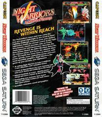 Back Of Box | Night Warriors Darkstalkers' Revenge Sega Saturn