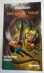 Instruction Manual | Wings of Wor Sega Genesis