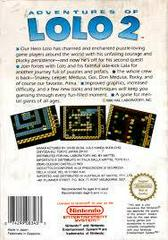 Adventures Of Lolo 2 - Back | Adventures of Lolo 2 NES