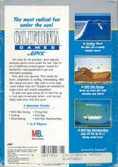 California Games - Back | California Games NES