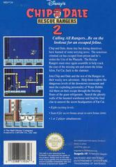 Chip And Dale Rescue Rangers 2 - Back | Chip and Dale Rescue Rangers 2 NES