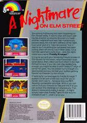 A Nightmare On Elm Street - Back | A Nightmare on Elm Street NES