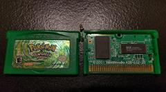 Pokemon LeafGreen Cartridge And Board Front | Pokemon LeafGreen Version GameBoy Advance