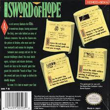 Sword Of Hope - Back | Sword of Hope GameBoy