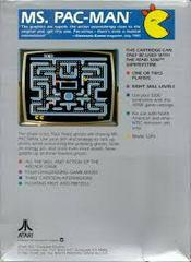 Ms. Pac-Man - Back   Ms. Pac-Man Atari 5200