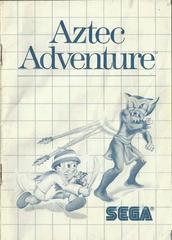 Aztec Adventure - Instructions | Aztec Adventure Sega Master System