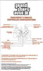 Manual - Back | Grand Theft Auto III Playstation 2