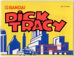Dick Tracy - Instructions | Dick Tracy NES