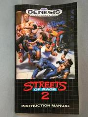 Instruction Manual | Streets of Rage 2 Sega Genesis
