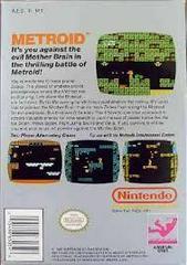 Metroid - Back | Metroid NES