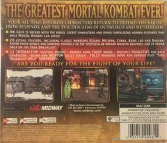 Back Of Case - Version 1 | Mortal Kombat Gold Sega Dreamcast