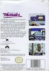Days Of Thunder - Back | Days Of Thunder NES