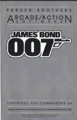 James Bond 007 - Instructions | 007 James Bond Commodore 64