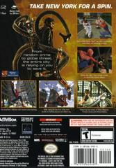 Case - Back | Spiderman 2 Gamecube