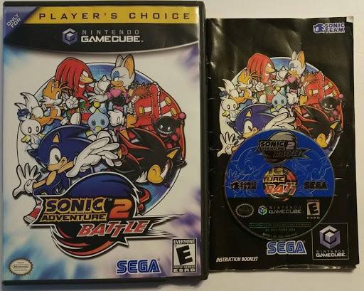 Sonic Adventure 2 Battle Game Box Manual Gamecube