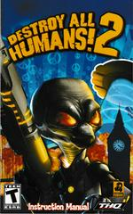 Manual - Front | Destroy All Humans 2 Playstation 2