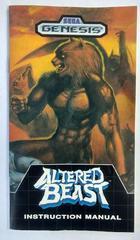 Manual | Altered Beast Sega Genesis