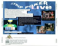 Cover Art Back | Strip Poker Live CD-i