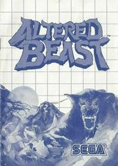 Altered Beast - Instructions | Altered Beast Sega Master System