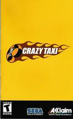 Manual - Front | Crazy Taxi Playstation 2