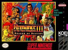 Romance of the Three Kingdoms III Dragon of Destiny Super Nintendo Prices