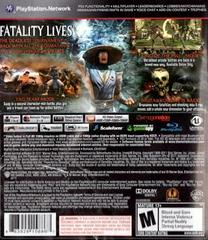 Back Cover | Mortal Kombat Playstation 3